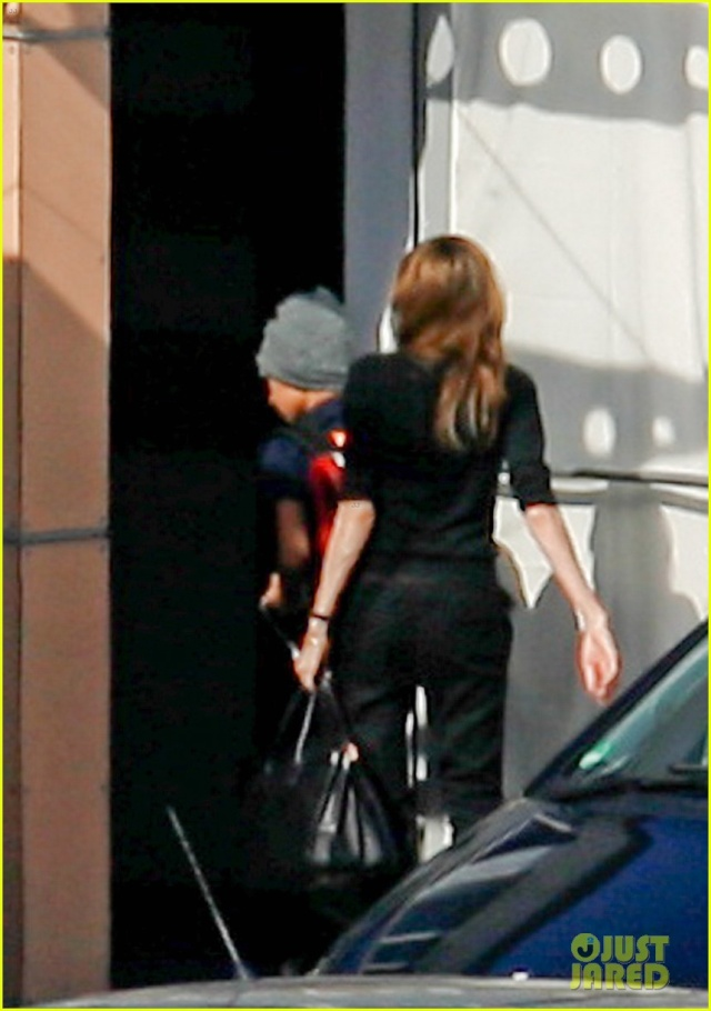 Angelina and Kids Airport Sighting..Berlin,Germany..June 5th 2013 046