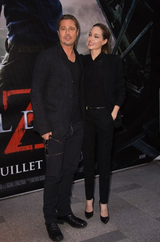 Brad and Angelina World War Z Premiere,UGC Normandie Movie Theatre.. Paris,France..June 3rd 2013 0518
