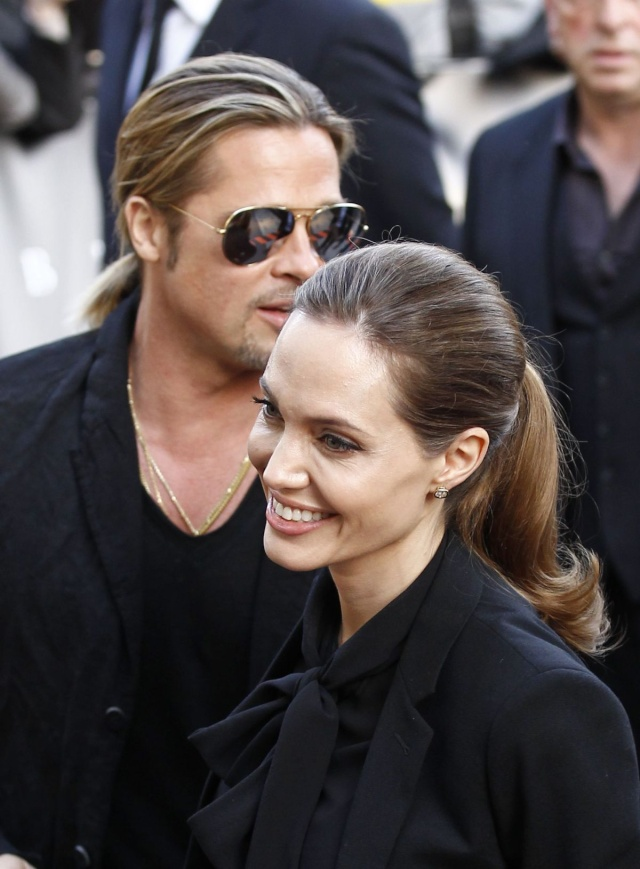 Brad and Angelina World War Z Premiere,UGC Normandie Movie Theatre.. Paris,France..June 3rd 2013 0525
