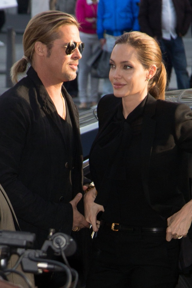 Brad and Angelina World War Z Premiere,UGC Normandie Movie Theatre.. Paris,France..June 3rd 2013 0812