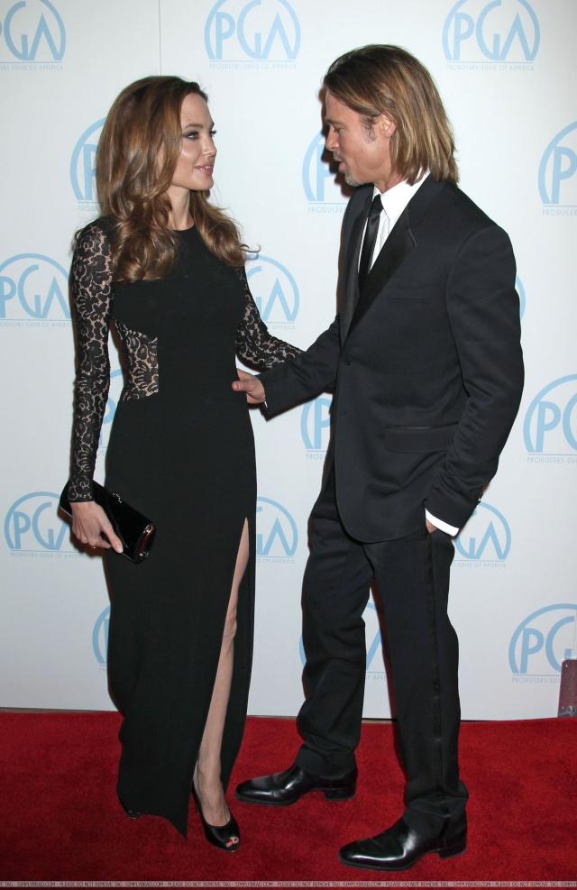 Brad and Angelina at Producers Guild Awards,Los Angeles, CA .January 21st 2012 08510