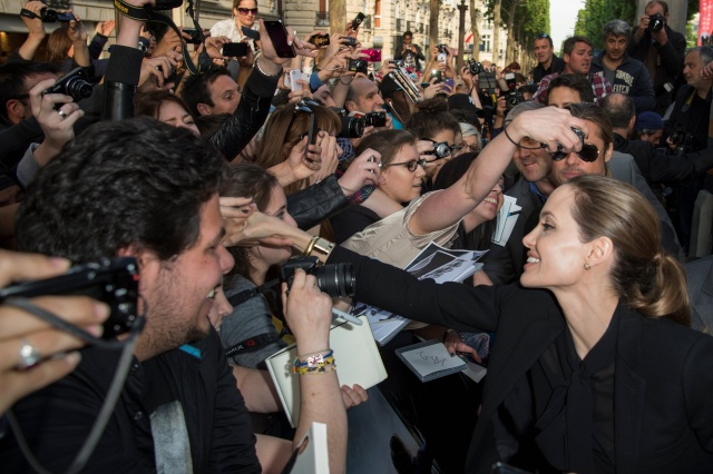 Brad and Angelina World War Z Premiere,UGC Normandie Movie Theatre.. Paris,France..June 3rd 2013 0911