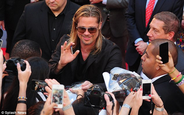Brad at World War Z Premiere, New York..June 17th 2013 0_321