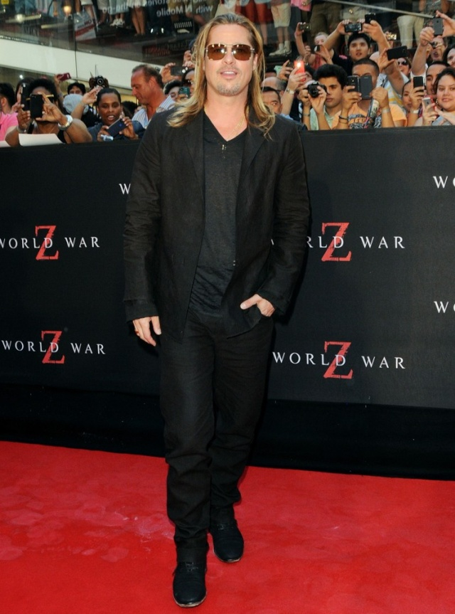 Brad at World War Z Premiere, New York..June 17th 2013 0_518