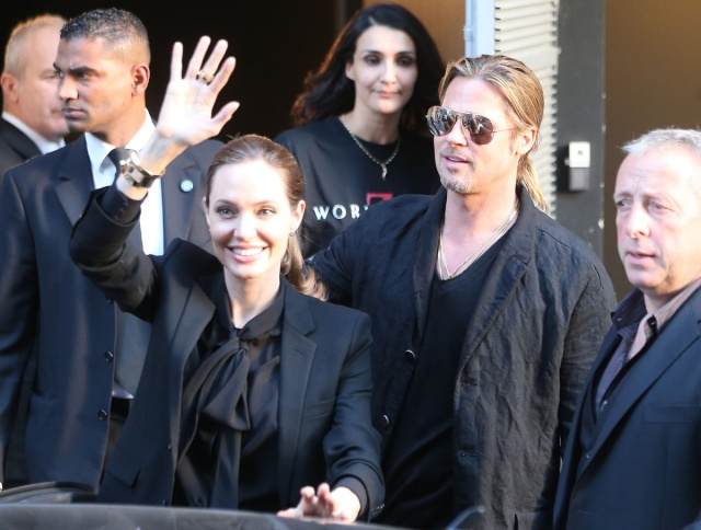 Brad and Angelina World War Z Premiere,UGC Normandie Movie Theatre.. Paris,France..June 3rd 2013 0_copy10