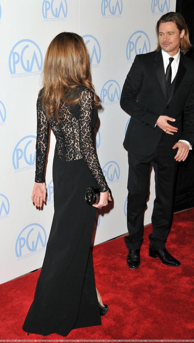 Brad and Angelina at Producers Guild Awards,Los Angeles, CA .January 21st 2012 11010