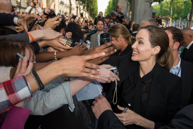 Brad and Angelina World War Z Premiere,UGC Normandie Movie Theatre.. Paris,France..June 3rd 2013 1111