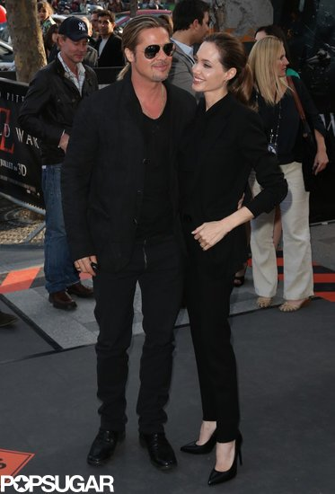 Brad and Angelina World War Z Premiere,UGC Normandie Movie Theatre.. Paris,France..June 3rd 2013 1715