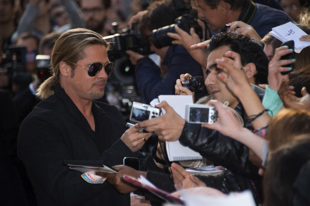 Brad and Angelina World War Z Premiere,UGC Normandie Movie Theatre.. Paris,France..June 3rd 2013 1813