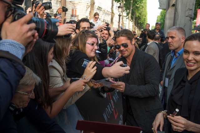 Brad and Angelina World War Z Premiere,UGC Normandie Movie Theatre.. Paris,France..June 3rd 2013 1973-v11