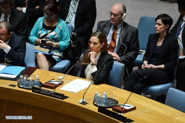 Angelina urges against rape in war zones at the UN Security Council Meeting..New York, June 24th 2013 19912010