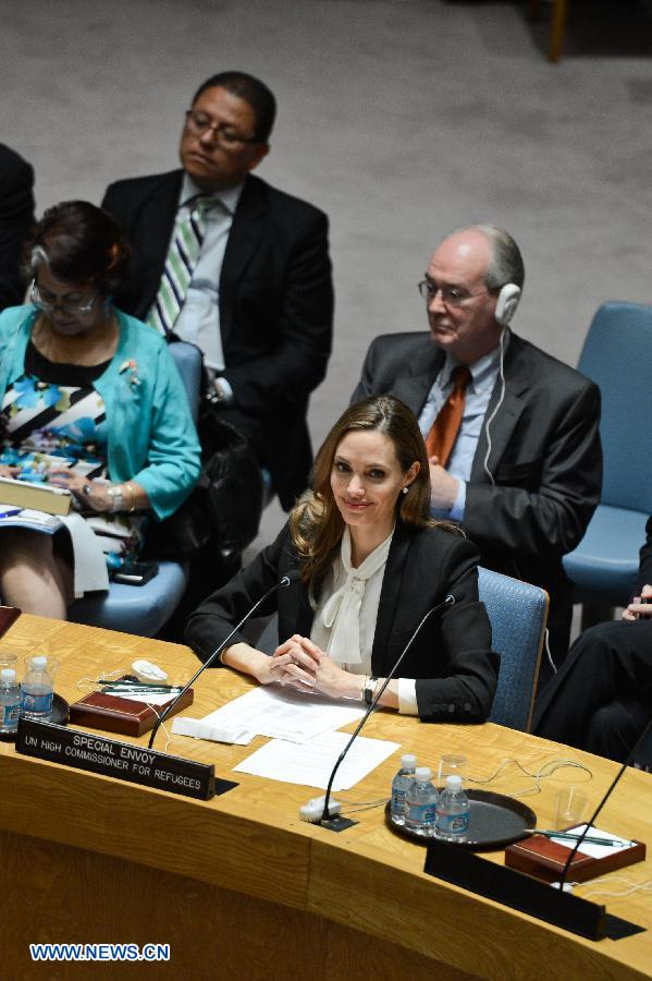 Angelina urges against rape in war zones at the UN Security Council Meeting..New York, June 24th 2013 19912011