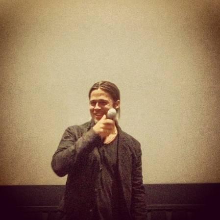 Brad at World War Z Screening, Hoboken, New Jersey..May 22nd 2013 2ba16410