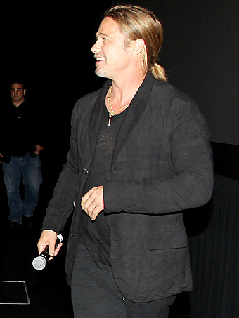 Brad at World War Z Screening, Museum of Modern Art, New York, May 22nd 2013 2ba16412