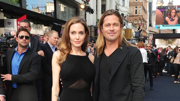 Brad and Angelina at World War Z Premiere..Leicester Square, London..June 2nd, 2013 2ba16430