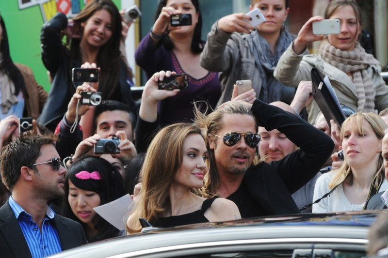 Brad and Angelina at World War Z Premiere..Leicester Square, London..June 2nd, 2013 2ba16434