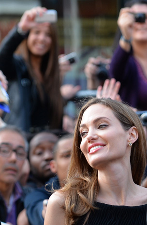 Brad and Angelina at World War Z Premiere..Leicester Square, London..June 2nd, 2013 2ba16436