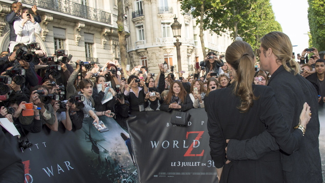Brad and Angelina World War Z Premiere,UGC Normandie Movie Theatre.. Paris,France..June 3rd 2013 2ba16442