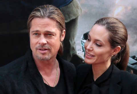 Brad and Angelina World War Z Premiere,UGC Normandie Movie Theatre.. Paris,France..June 3rd 2013 2ba16447