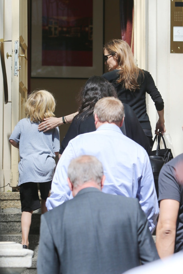 Angelina and Kids out in Berlin..June 5th 2013 2ba16464