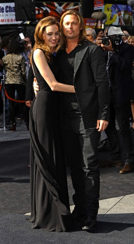 Brad and Angelina at World War Z Premiere..Leicester Square, London..June 2nd, 2013 - Page 2 4brad-11