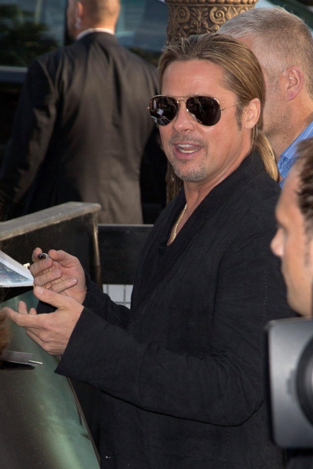 Brad and Angelina World War Z Premiere,UGC Normandie Movie Theatre.. Paris,France..June 3rd 2013 4brad-14