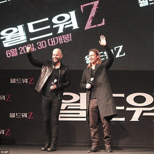 Brad at World War Z Premiere Seoul,South Korea..June 11th 2013 4brad-18