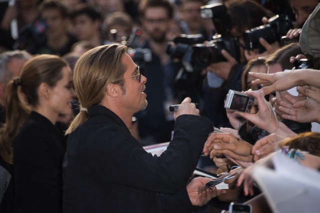 Brad and Angelina World War Z Premiere,UGC Normandie Movie Theatre.. Paris,France..June 3rd 2013 600ful11