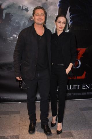 Brad and Angelina World War Z Premiere,UGC Normandie Movie Theatre.. Paris,France..June 3rd 2013 7b5b6515
