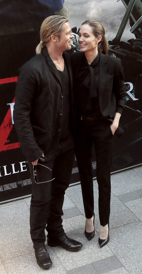 Brad and Angelina World War Z Premiere,UGC Normandie Movie Theatre.. Paris,France..June 3rd 2013 7b5b6516