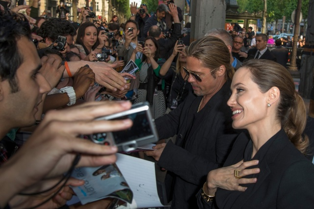 Brad and Angelina World War Z Premiere,UGC Normandie Movie Theatre.. Paris,France..June 3rd 2013 812