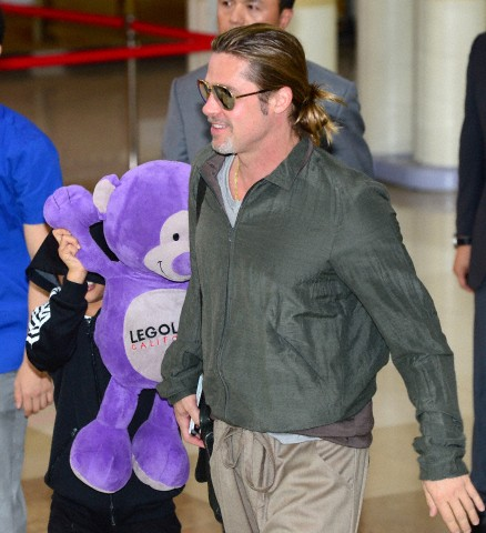 Brad and Pax arrive at Gimpo Airport..Seoul, South Korea, June 11th 2013 _5886315