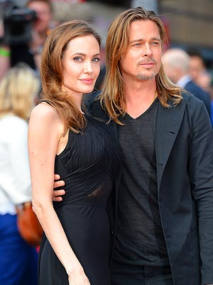 Brad and Angelina at World War Z Premiere..Leicester Square, London..June 2nd, 2013 Angeli12