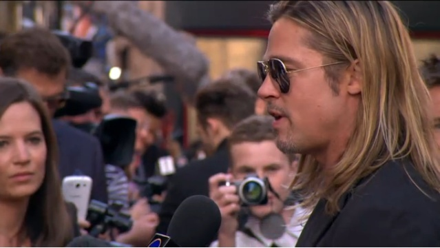 Brad and Angelina at World War Z Premiere..Leicester Square, London..June 2nd, 2013 - Page 3 Brad-p23
