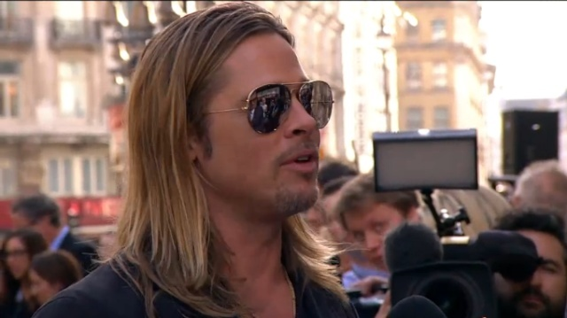 Brad and Angelina at World War Z Premiere..Leicester Square, London..June 2nd, 2013 - Page 3 Brad-p24