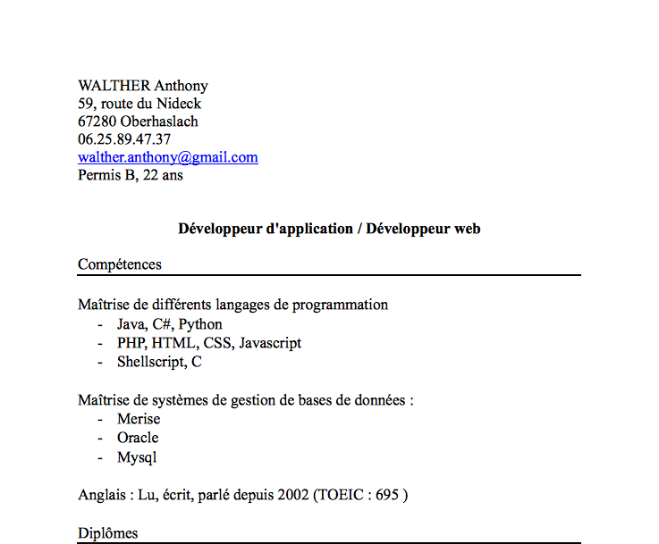 CV / Lettre motivation : Mirodin ^^ Captur23