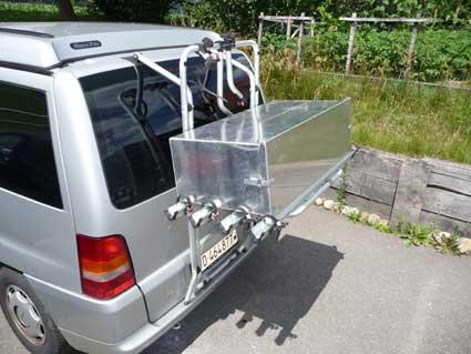 Caisse de rangement sur porte-vélo Caisse10