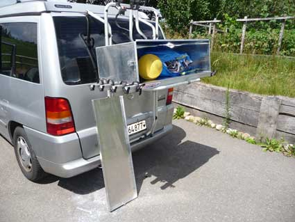 Caisse de rangement sur porte-vélo Caisse11