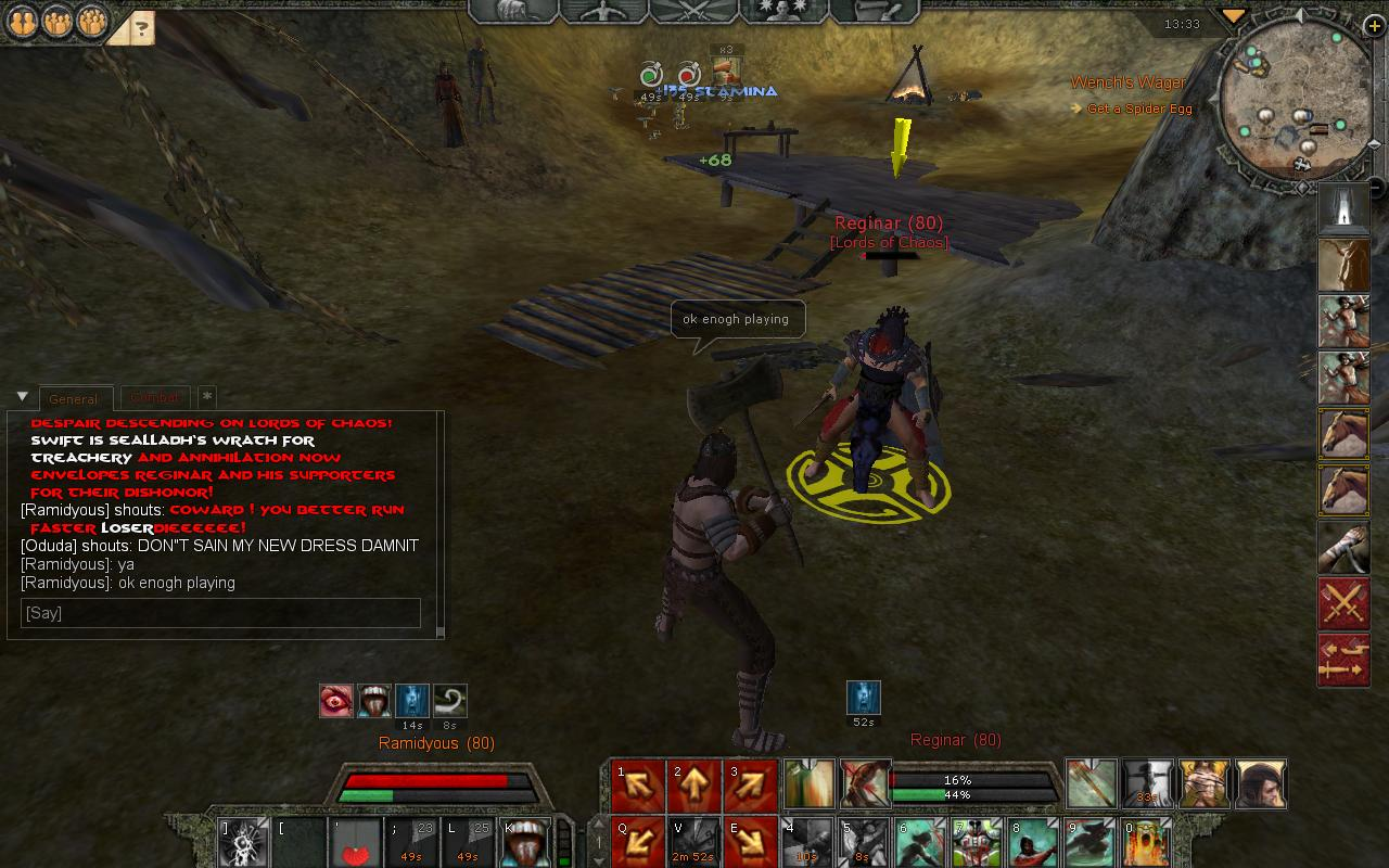 Reginer Death <<-- OUR ENEMY Lord of Chaos Leader have Been Killed in DUel By Lord Ramidyous R510