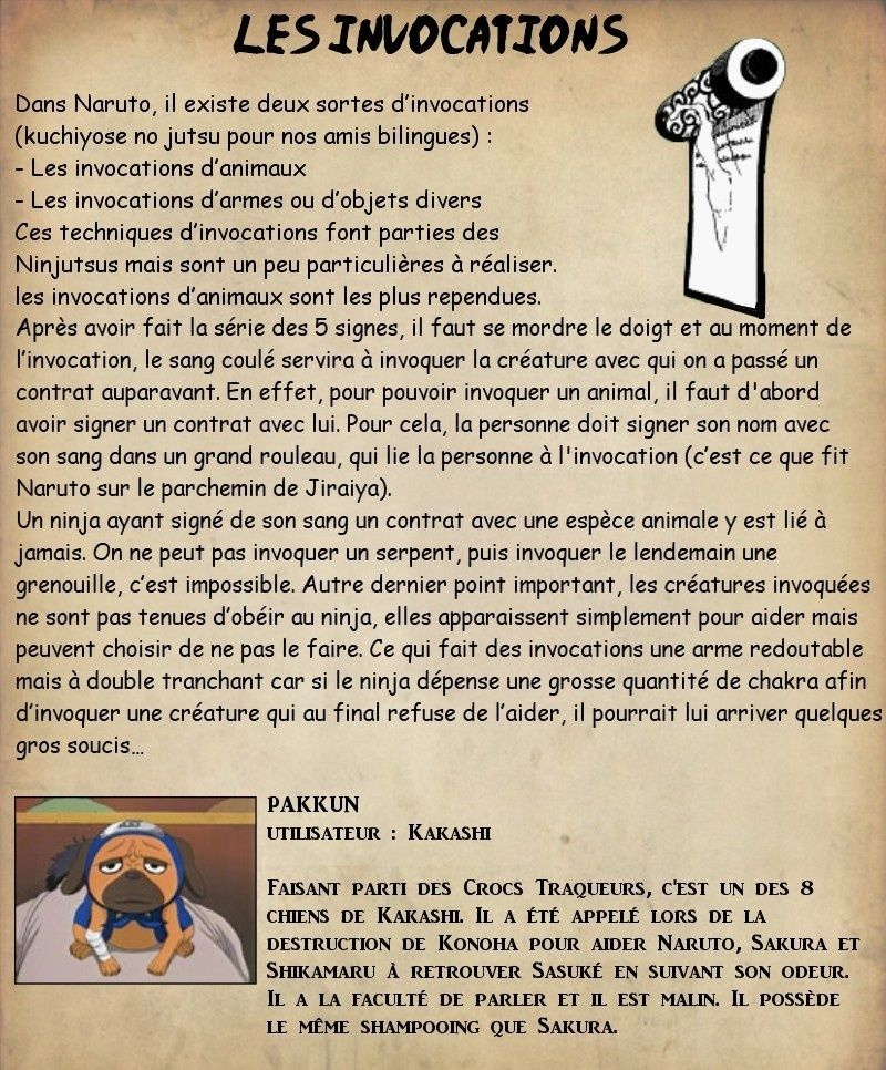 Les invocations Juille14
