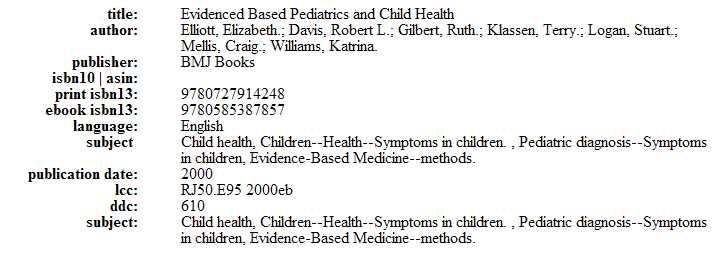 Evidence based pediatrics & child health Captur42