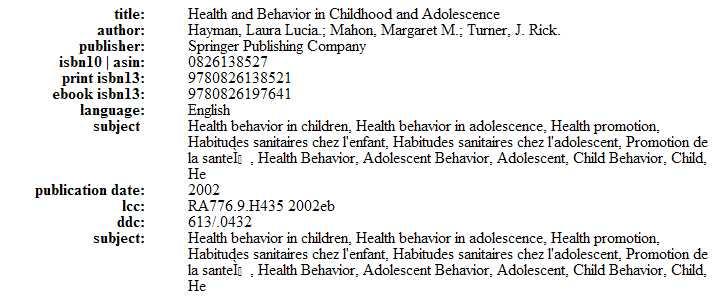 Health &n behaviour in children & adolescents Captur52