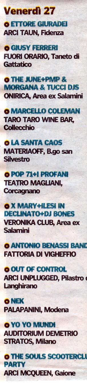 Francesco Palmieri e Marcello Coleman (voce degli Almamegretta) su Gazzetta di Parma 27 Marzo 2009 Artico16