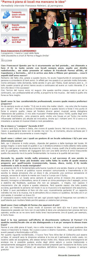 "Francesco Palmieri intervistato da ""ParmaDaily"" 30 Dicembre 2008 Interv12"