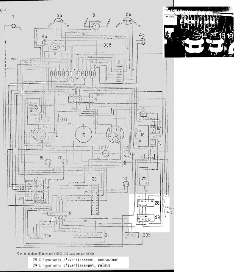 référence relais +centrale clignotant 421 Elemen10