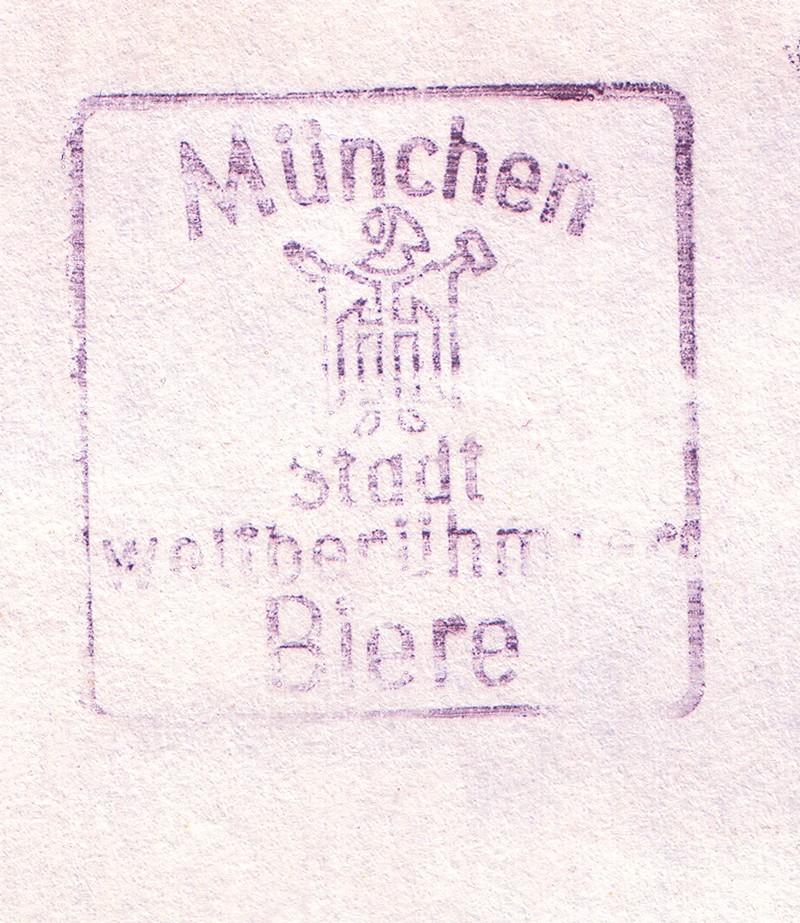 """München, """"Stadt weltberühmter Biere"""" Stempe10"""