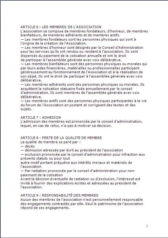 CONSTITUTION EN ASSOCIATION : DOCUMENTS ORIGINAUX DEPOSES EN PREFECTURE P213