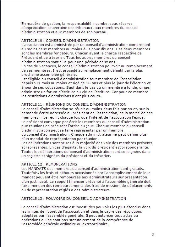 CONSTITUTION EN ASSOCIATION : DOCUMENTS ORIGINAUX DEPOSES EN PREFECTURE P313