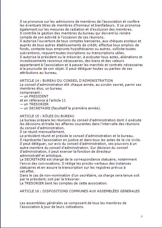 CONSTITUTION EN ASSOCIATION : DOCUMENTS ORIGINAUX DEPOSES EN PREFECTURE P413