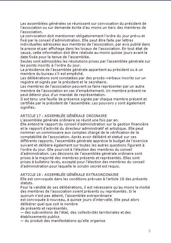 CONSTITUTION EN ASSOCIATION : DOCUMENTS ORIGINAUX DEPOSES EN PREFECTURE P514